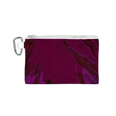 Abstract Purple Pattern Canvas Cosmetic Bag (S)