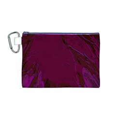 Abstract Purple Pattern Canvas Cosmetic Bag (M)