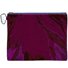 Abstract Purple Pattern Canvas Cosmetic Bag (xxxl)