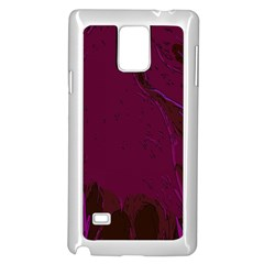 Abstract Purple Pattern Samsung Galaxy Note 4 Case (white)