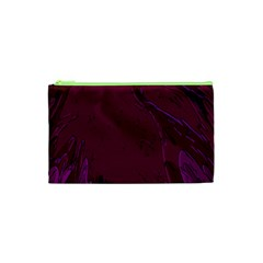 Abstract Purple Pattern Cosmetic Bag (XS)