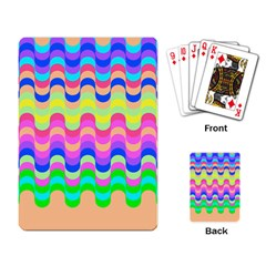 Dna Early Childhood Wave Chevron Woves Rainbow Playing Card