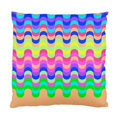 Dna Early Childhood Wave Chevron Woves Rainbow Standard Cushion Case (one Side)