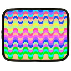 Dna Early Childhood Wave Chevron Woves Rainbow Netbook Case (xxl)