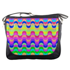 Dna Early Childhood Wave Chevron Woves Rainbow Messenger Bags