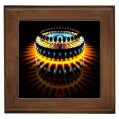 Abstract Led Lights Framed Tiles