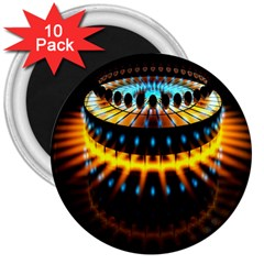 Abstract Led Lights 3  Magnets (10 Pack)