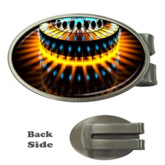 Abstract Led Lights Money Clips (Oval)