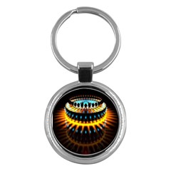 Abstract Led Lights Key Chains (Round)