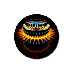 Abstract Led Lights Rubber Round Coaster (4 pack)