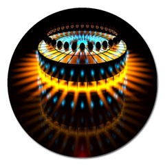 Abstract Led Lights Magnet 5  (round)