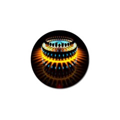 Abstract Led Lights Golf Ball Marker (10 pack)