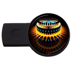 Abstract Led Lights USB Flash Drive Round (1 GB)