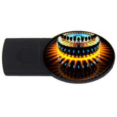 Abstract Led Lights Usb Flash Drive Oval (4 Gb)