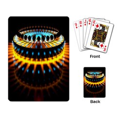 Abstract Led Lights Playing Card