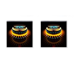 Abstract Led Lights Cufflinks (square)