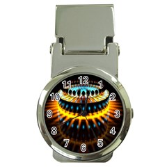 Abstract Led Lights Money Clip Watches