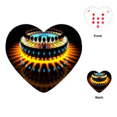 Abstract Led Lights Playing Cards (heart)