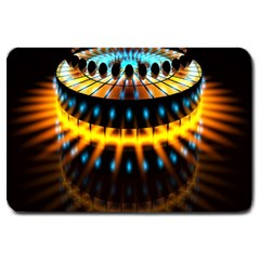 Abstract Led Lights Large Doormat