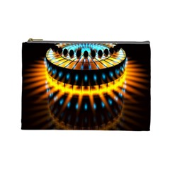 Abstract Led Lights Cosmetic Bag (large)