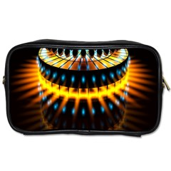 Abstract Led Lights Toiletries Bags 2 Side