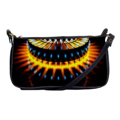 Abstract Led Lights Shoulder Clutch Bags