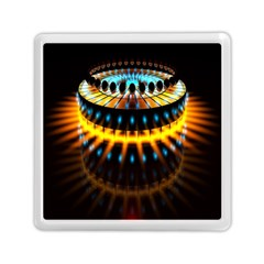Abstract Led Lights Memory Card Reader (square)