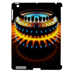 Abstract Led Lights Apple iPad 3/4 Hardshell Case (Compatible with Smart Cover)