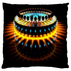 Abstract Led Lights Large Cushion Case (One Side)