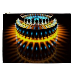 Abstract Led Lights Cosmetic Bag (XXL)