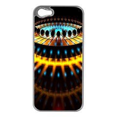 Abstract Led Lights Apple iPhone 5 Case (Silver)