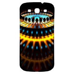 Abstract Led Lights Samsung Galaxy S3 S III Classic Hardshell Back Case