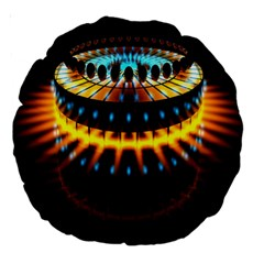 Abstract Led Lights Large 18  Premium Round Cushions