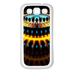Abstract Led Lights Samsung Galaxy S3 Back Case (white)