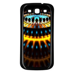 Abstract Led Lights Samsung Galaxy S3 Back Case (Black)