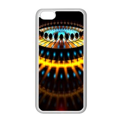 Abstract Led Lights Apple iPhone 5C Seamless Case (White)