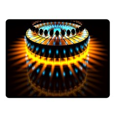 Abstract Led Lights Double Sided Fleece Blanket (small)