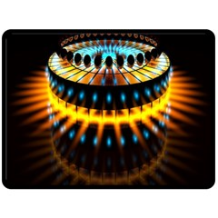 Abstract Led Lights Double Sided Fleece Blanket (Large)