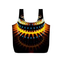 Abstract Led Lights Full Print Recycle Bags (S)