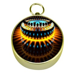 Abstract Led Lights Gold Compasses