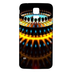 Abstract Led Lights Samsung Galaxy S5 Back Case (White)