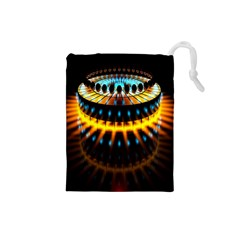 Abstract Led Lights Drawstring Pouches (Small)