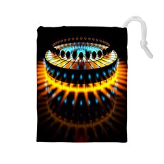 Abstract Led Lights Drawstring Pouches (large)