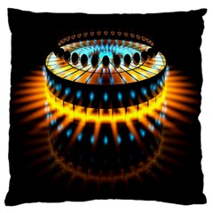 Abstract Led Lights Large Flano Cushion Case (one Side)