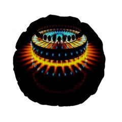 Abstract Led Lights Standard 15  Premium Flano Round Cushions
