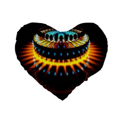 Abstract Led Lights Standard 16  Premium Flano Heart Shape Cushions