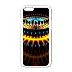 Abstract Led Lights Apple iPhone 6/6S White Enamel Case
