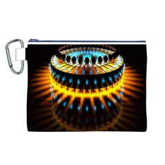 Abstract Led Lights Canvas Cosmetic Bag (L)