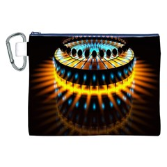 Abstract Led Lights Canvas Cosmetic Bag (XXL)