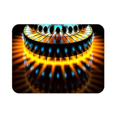 Abstract Led Lights Double Sided Flano Blanket (mini)